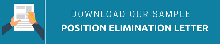 what you should include in your position elimination letter and a