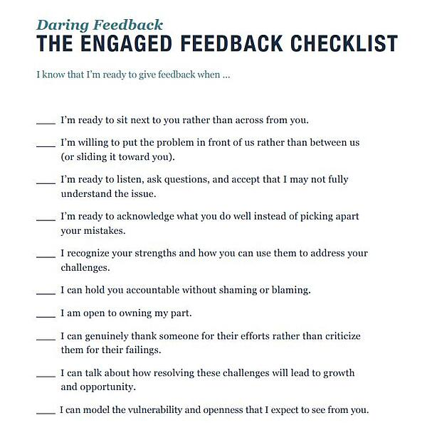 Dare to lead checklist