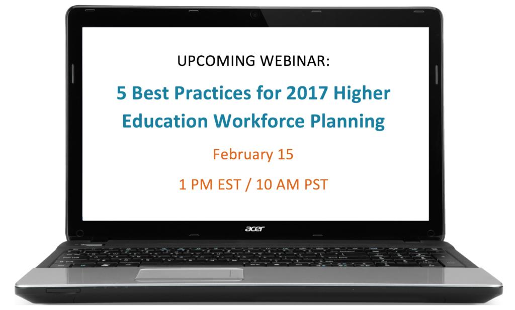 webinar higher ed workforce planning