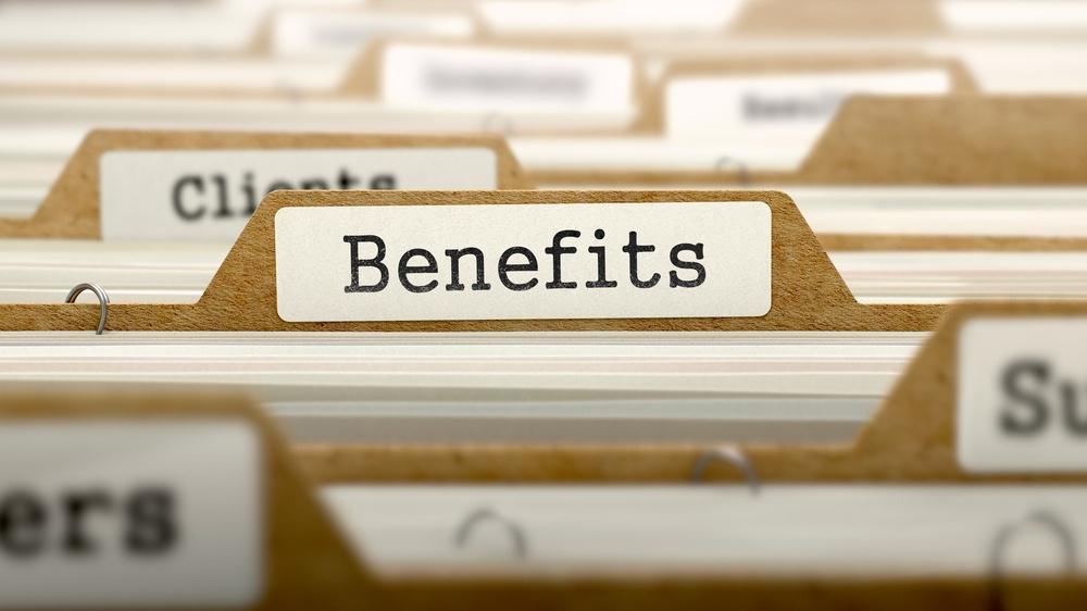 Benefits Concept. Word on Folder Register of Card Index. Selective Focus..jpeg