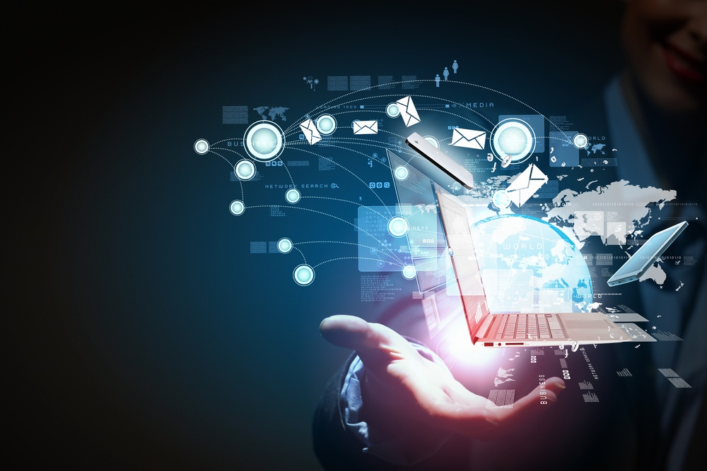 Modern wireless technology and social media illustration-3